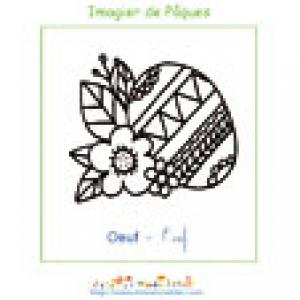 Imprimer l'oeuf de l'imagier de Pâques