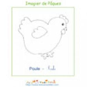 Imprimer le poussin de l'imagier de Pâques