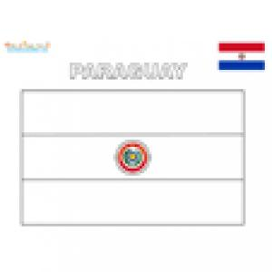 Coloriage du drapeau du Paraguay