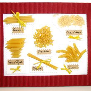 Réaliser un tableau avec des pâtes alimentaires