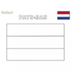 Coloriage du drapeau des Pays-Bas