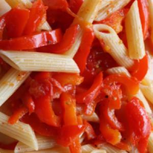 Penne poivron tomate