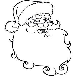 coloriage du visage du bon Père Noël