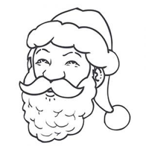 coloriage du visage du Père Noël