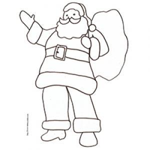 Coloriage du Père Noël qui fait un signe