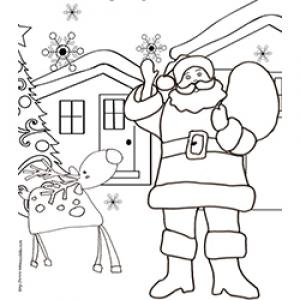Père Noël dans son village au Pôle Nord