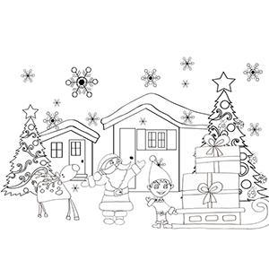 Coloriage du Père Noël dessin 32