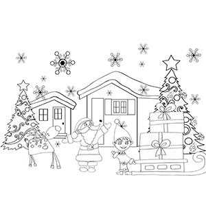 Collection De Coloriages Des Lutins Du Pere Noel Tete A Modeler