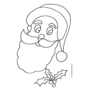 Coloriage de la tête du Père Noël dessin 38