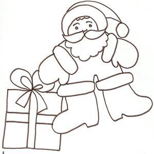 Coloriage du Père Noël aux grosses bottes