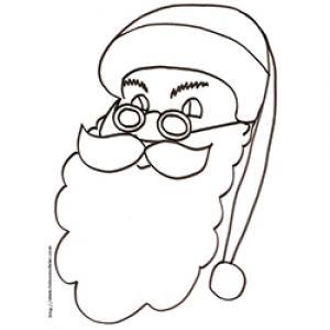 Coloriage grosse tête du Père Noël