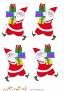 Image Pere Noel portant des cadeaux