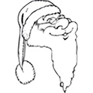 coloriage du visage souriant du Père Noël