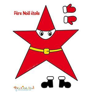Modèle du Père Noël en étoile