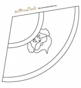 élément de collage du père noël à colorier