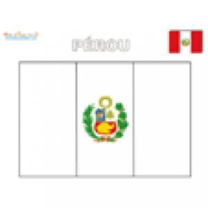 Coloriage du drapeau du Pérou
