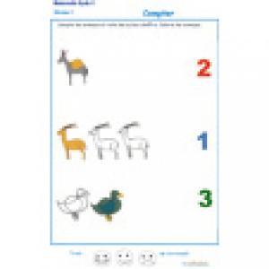 exercice 3 pour apprendre à compter de 1 à 3