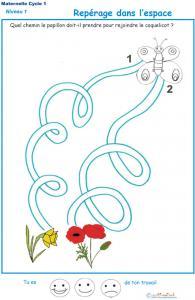 Imprimer l'Exercice 4 pour apprendre à compter maternelle niveau 1