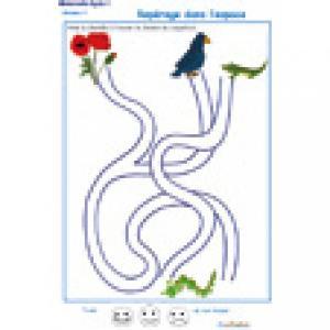 labyrinthe 5 : La chenille et le coquelicot