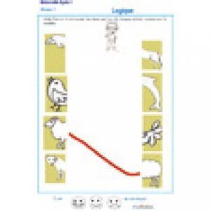 exercice 5 sur la logique : assembler deux parties d'une image