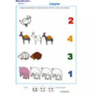 exercice 6 pour compter de 1 à 4