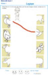 Exercice de logique : puzzle 7 assembler deux parties d'une image
