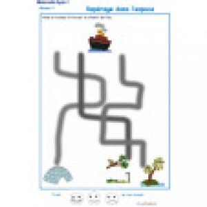 labyrinthe 7 : Le bateau et l'ile