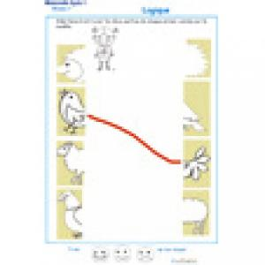 Puzzle : assembler deux parties d'une image