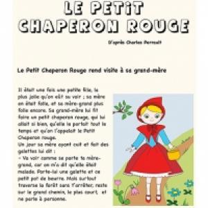 Imprimer l'histoire du petit chaperon rouge
