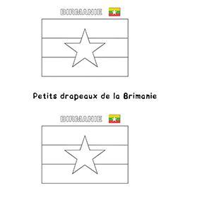 Mini drapeaux de la Birmanie