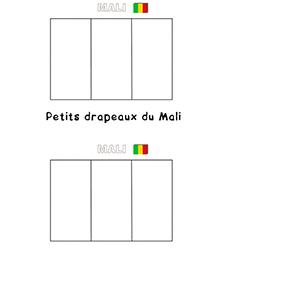 Mini drapeau du Mali à colorier