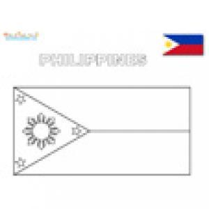 Coloriage du drapeau des Philippines