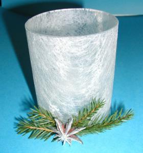 Créer un photophore blanc pour Noël