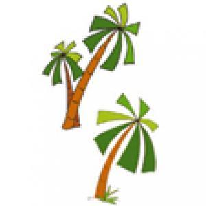 Palmiers pour la décoration d'un gâteau pirate