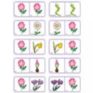 Dominos fleurs à imprimer - imprimer la planche 11