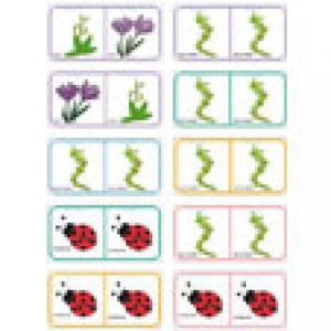 Planche de fleurs N°17 pour fabriquer un jeu dominos