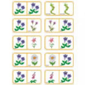 Dominos des fleurs - planche 3