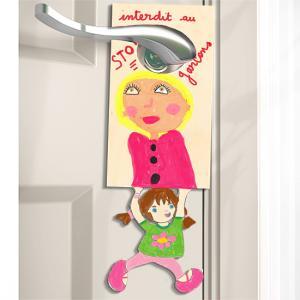 Plaque de porte enfant : fille ou garçon