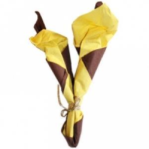 Pliage serviette : chandelle droite