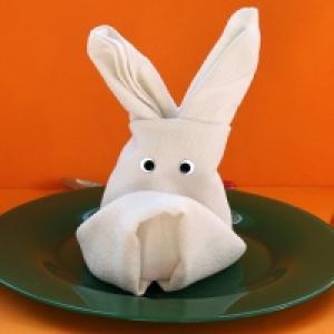Pliage serviette lapin