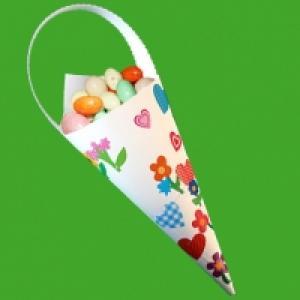 Pochette décorée de gommettes printemps