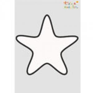 Pochoir étoile de Noël à imprimer