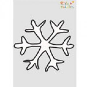 Pochoir flocon de neige de Noël à imprimer