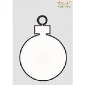 Pochoir boule de Noël à imprimer