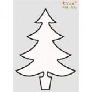 Pochoir Sapin de Noël 2 à imprimer