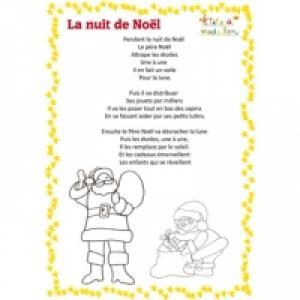 Poème : La nuit de Noël à imprimer