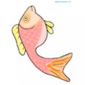 Un petit poisson tout en couleur à découper