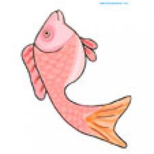 Poisson rouge, un poisson a imprimer