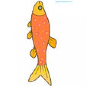 Un petit poisson orange long