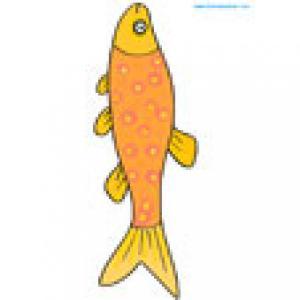 Image d'un poisson orange à imprimer